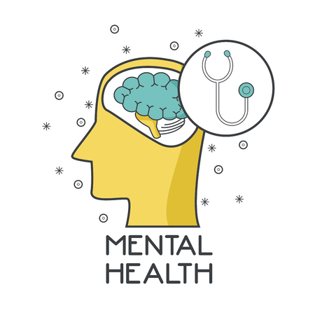 Mental health design icon vector illustration graphic design