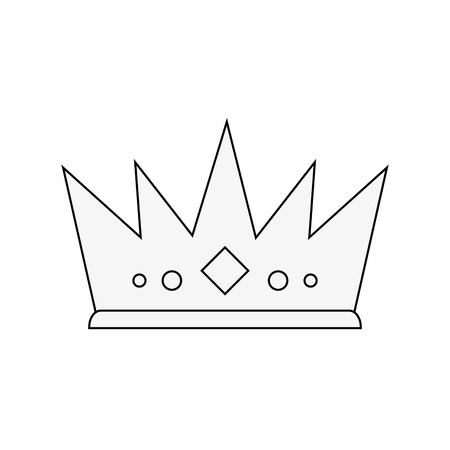 royal person: royal crown icon image vector illustration design Illustration