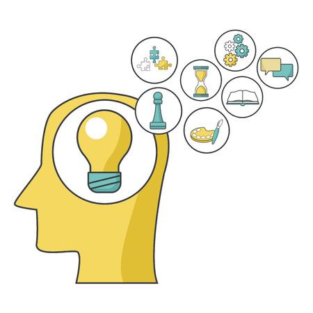Mental health design icon vector illustration graphic design