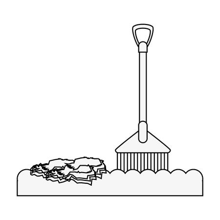 rake tool icon image vector illustration design Illustration