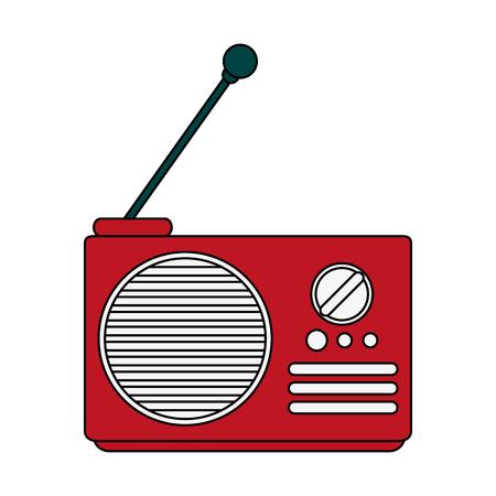 fm: radio with antenna icon image vector illustration design
