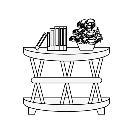 plant in pot on accent table icon image vector illustration design