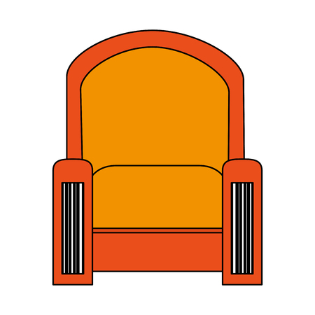sofa armchair furniture icon image vector illustration design Illustration