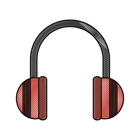 Music headphones isolated icon vector illustration graphic design