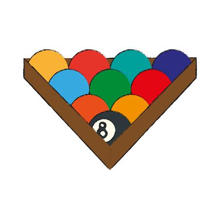 8 ball: Billiard balls isolated icon vector illustration graphic design Illustration