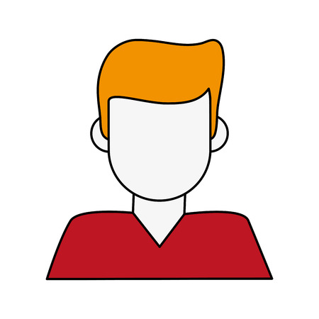 Man faceless cartoon icon vector illustration graphic design Illustration