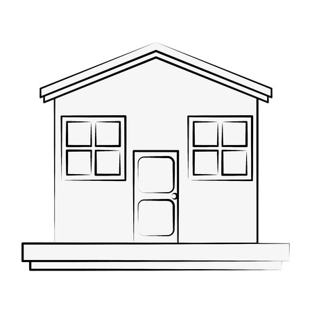 residential homes: House real estate icon vector illustration graphic design