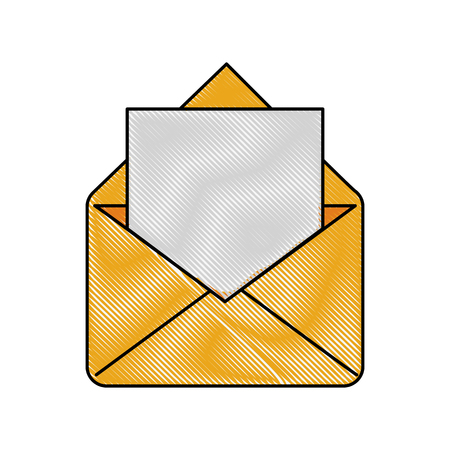 Envelope message symbol icon vector illustration graphic design.