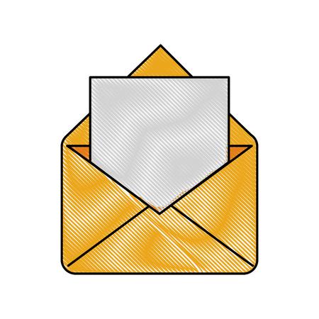 postal card: Envelope message symbol icon vector illustration graphic design.