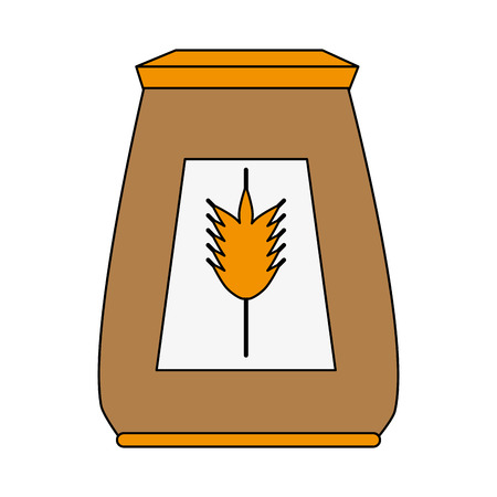Wheat flour isolated icon illustration graphic design.