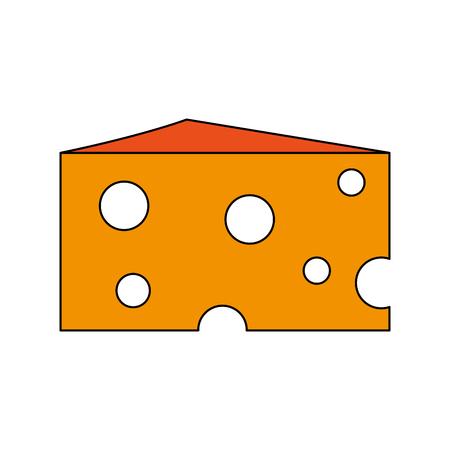 Delicious cheese dairy icon illustration graphic design. Illustration