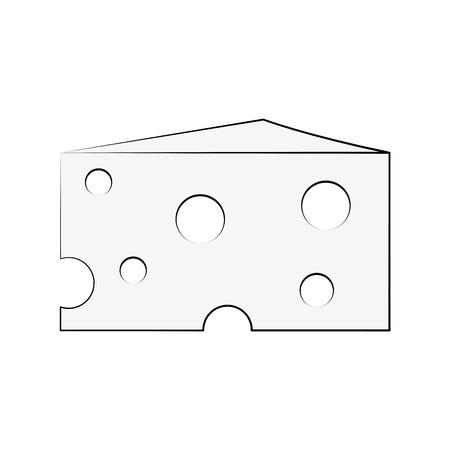 Delicious cheese dairy icon vector illustration graphic design Çizim