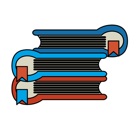 Pile of books icon image, vector illustration design Illustration