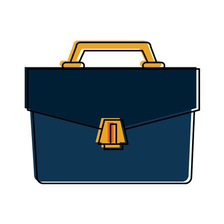 accessory: business briefcase icon image vector illustration design Illustration