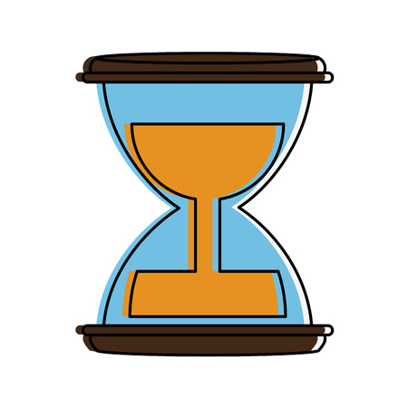 clock: hourglass or sandglass icon image vector illustration design