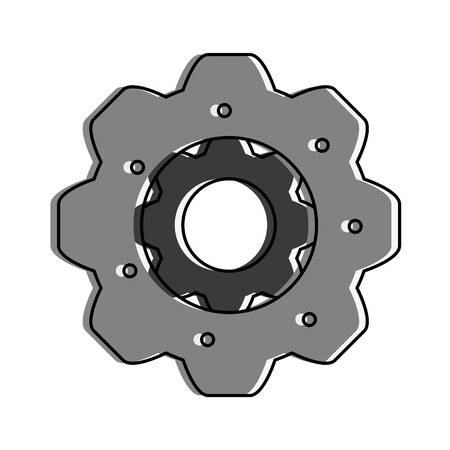 power: single gear icon image vector illustration design