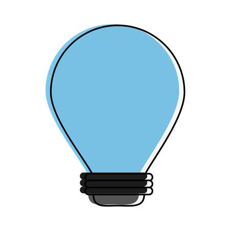 power: regular lightbulb icon image vector illustration design