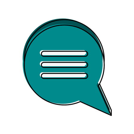 chat bubble with lines icon image vector illustration design