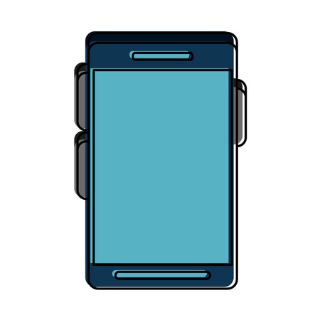 multimedia icons: smartphone with blank screen icon image vector illustration design Illustration