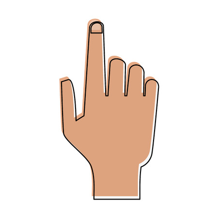 onderwijs: hand with index finger up icon image vector illustration design