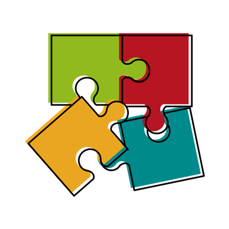 forme: Puzzle pieces separated icon image vector illustration design