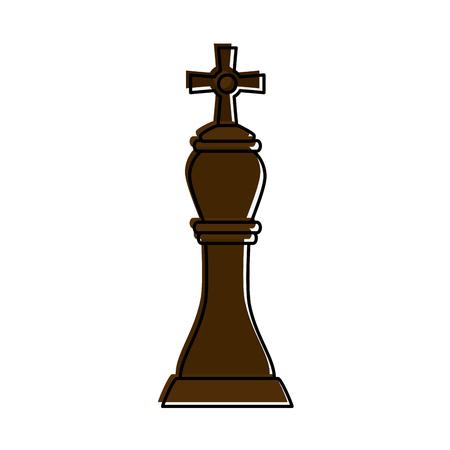 power: Bishop chess piece icon image vector illustration design Illustration