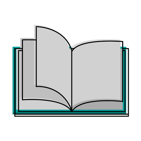 forme: Open book with blank pages icon image vector illustration design