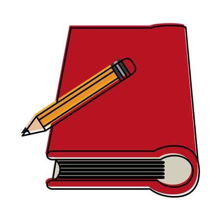 forme: Book with pencil icon image vector illustration design