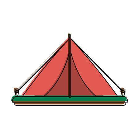 Camping tent icon image vector illustration design