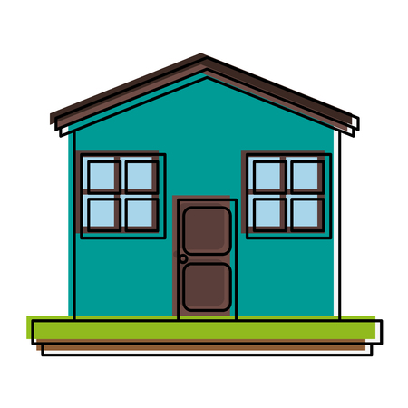 residential: Family house or home icon image vector illustration design