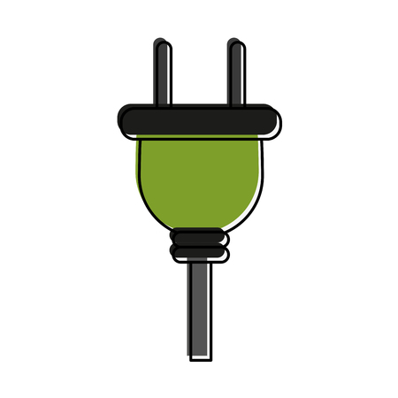 power: plug with cord icon image vector illustration design