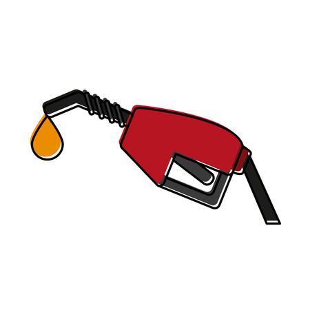 power: gas pump icon image vector illustration design