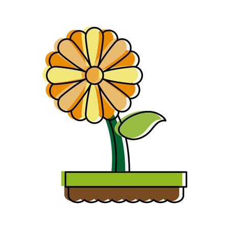 forme: flower in pot icon image vector illustration design