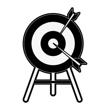 Bulls eye with darts icon image vector illustration. Illustration