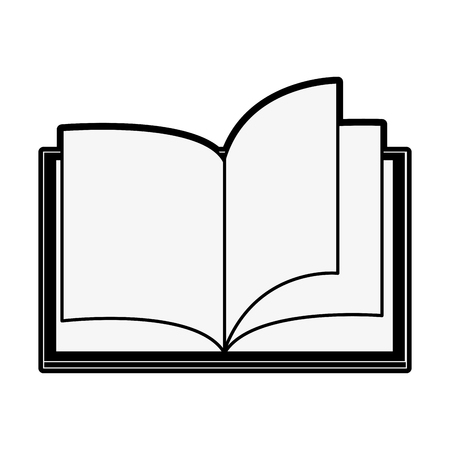onderwijs: open book with blank pages icon image vector illustration design  black and white