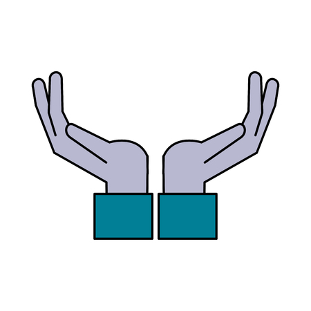 onderwijs: open hands icon image vector illustration design Stock Illustratie
