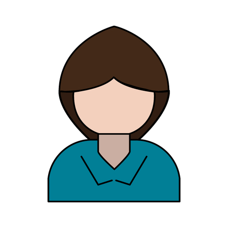 onderwijs: woman avatar portrait  icon image vector illustration design Stock Illustratie