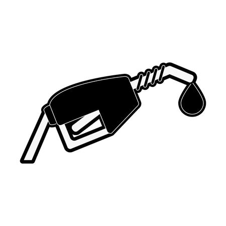 power: gas pump icon image vector illustration design  black and white Illustration