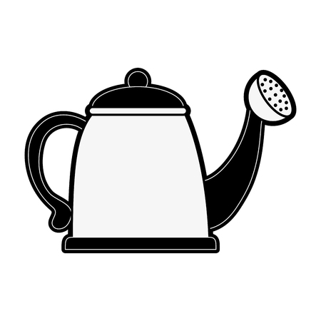 onderwijs: watering can icon image vector illustration design  black and white