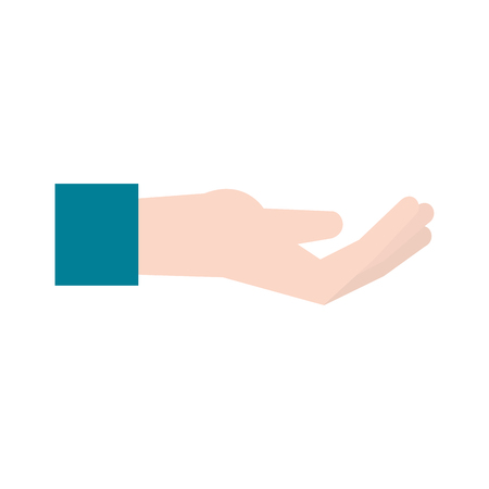 onderwijs: open hand with palm up icon image vector illustration design