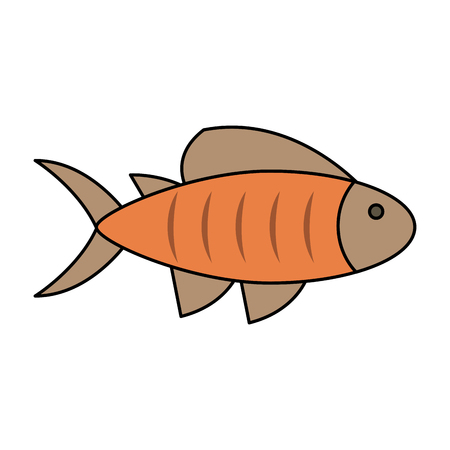 fish sideview icon image vector illustration design Illustration