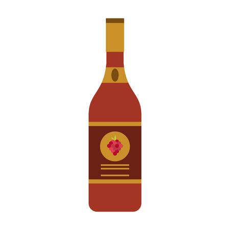 wine bottle icon image vector illustration design Illustration