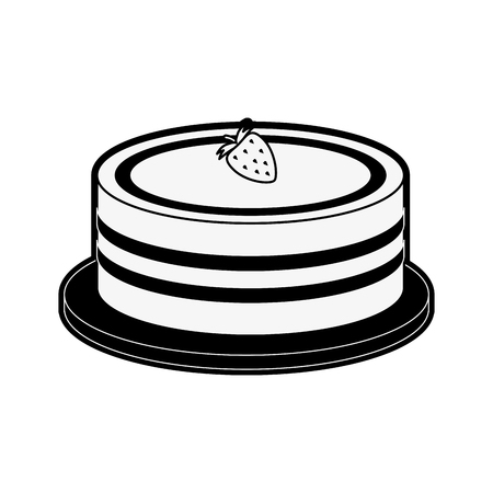 cake pastry related icon image vector illustration design  black and white