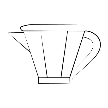 power: kettle tea time icon image vector illustration design  black sketch line Illustration