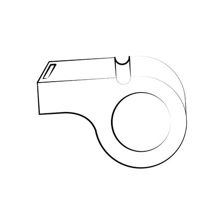 fitness equipment: blow whistle icon image vector illustration design  black sketch line