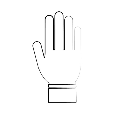 onderwijs: open hand icon image vector illustration design  black sketch line Stock Illustratie