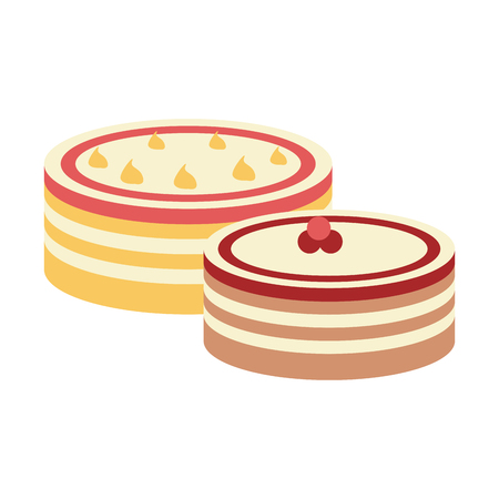 cake pastry related icon image vector illustration design