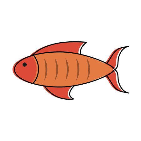 fish sideview icon image vector illustration design Ilustração