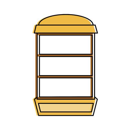 Empty Bookshelf Icon Image Vector Illustration Design Stock
