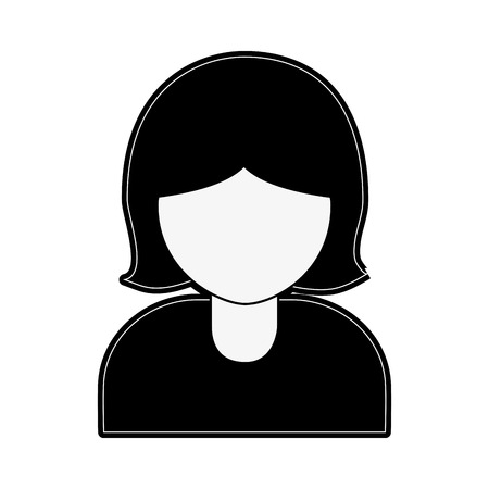 onderwijs: woman avatar portrait  icon image vector illustration design  black and white
